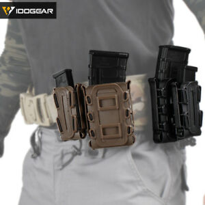 IDOGEAR 5.56 Mag Pouch MOLLE Pouch 9mm Mag Carrier Mag Holder Airsoft Fastmag