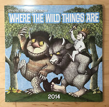NEW (Sealed) WHERE THE WILD THINGS ARE Official 2014 Wall Calendar - BROWN TROUT