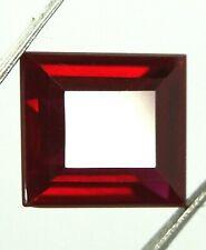 13,45ct Certified Natural Red Ruby - Untreated - Emerald cut VVS - Burma/Myanmar