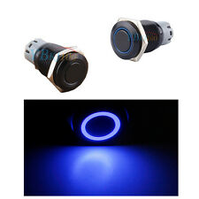 12V 3A Metal Blue LED Latching on/off 16mm Push Button Switch For Car