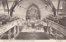 London Postcard. Chelsea Congregational Church. Markham Sq. Chelsea. c 1910