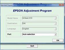 Reset Epson Artisan 810