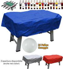 Calcio balilla copertura blu x interno ed esterno universale palline omaggio
