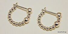 Authentic PANDORA String of Beads Hoop Earrings 925 Silver 297532