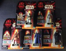 HASBRO STAR WARS EPISODE I COLLECTION 2 LOT OF 5 MOC ACTION FIGURES DISNEY S-15