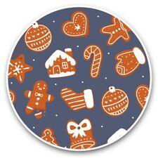 2 x Vinyl Stickers 30cm - Gingerbread Men Christmas Food Festive  #45151