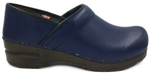 World of Clogs Classic Winter Lambs Wool Clog in Brown Leather by Sanita