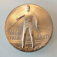 Finland Silver Coin 25 markkaa 1978 Lahti World Championship Original package