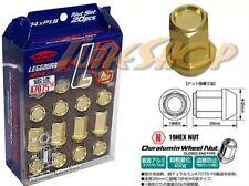 KICS LEGGDURA 35MM WHEELS LUG NUTS 14X1.5 1.5 ACORN RIM FORGED DURA GOLD 20