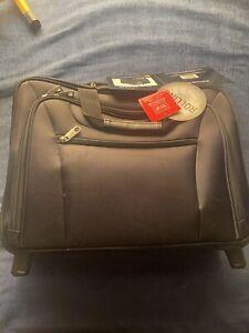 Samsonite Black Wheeled Portfolio Laptop Rolling Carry-On Briefcase Bag