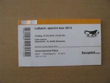 Laibach Spectre Tour 2014 Tickert Weinheim Cafe Central Konzertkarte 07.03.2014