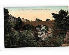 St2164: Bridge At Wappingers Falls Ny (postcard 1909Pm)