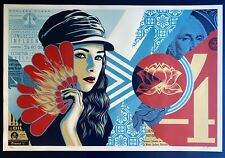 Shepard Fairey SIGNED & NUMBERED Fan The Flames Limited Print Poster Obey Giant