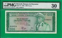 Burundi 1000 francs 1965, P14, VF PMG *30*, a clean rarity! Best example @ ebay!