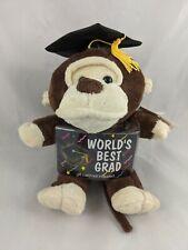 "Dan Dee Monkey Plush Graduation Card Money Holder 9"" Stuffed Animal"