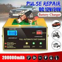 12 V/24 V voiture chargeur de batterie Portable Réparation d'impulsions