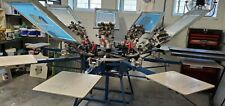 Screen Press Aaron Silk Screen Press 8 Station 7 Color With Xy Axis