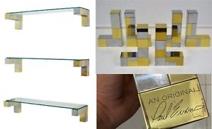 Paul Evans Cityscape shelf brackets Directional Signed Original 1970s MCM rare