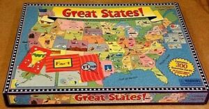 GREAT STATES! board game Test knowledge: state capitals, landmarks and locations