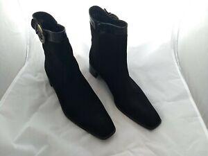 Stuart Weitzman Ankle Boots 11 M Gore-tex Side Zip Square Toe Boot