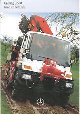 Prospekt 2002 Mercedes Unimog U 500 Gelände 3 02 brochure Auto Lkw Baumaschine