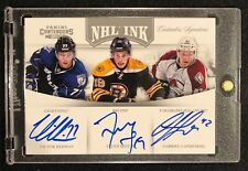 11-12 PANINI CONTENDERS NHL INK TRIPLE AUTO HEDMAN SEGUIN LANDESKOG /25 #8