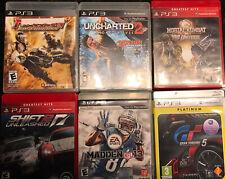 Lot of 6 PS3 Video Games Gran Turismo 5 Madden Shift Uncharted Mortal Kombat