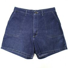 4021 Wrangler Women 12 Shorts Denim Blue Cotton High Rise Khakis & Chinos