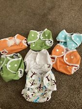 New ListingLot Of 7 Thirsties Reusable Cloth Diaper Cover Size One 0-9months Excellent!
