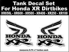 Tank wing decals for Honda XR650L XR600 XR500 XR400 XR250 XR100 dirtbikes