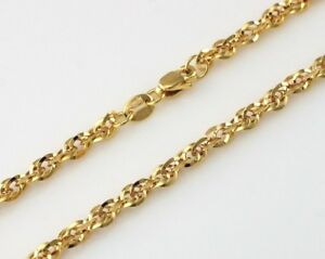 """9ct Gold Diamond Cut Prince Of Wales Chain Necklace 16"""" 18"""" 20"""""""