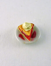 Dollhouse Miniature Cherry Pie Slice, K2247
