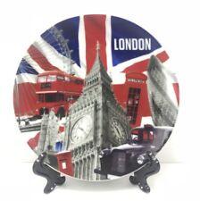 LONDON SOUVENIRS DECORATIVE PORCELAIN PLATE + Stand 15 CM CERAMIC GIFT
