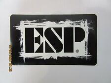 ESP ELECTRIC GUITAR BASS GUITAR DECAL CASE RACK BUMPER STICKER NICE NEW RARE
