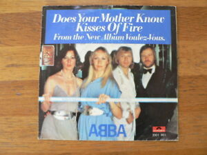 EP ABBA DOES YOU MOTHER KNOW & KISSES OF FIRE SINGLE 7 INCH B