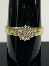 18ct 18k Yellow Gold Brilliant Cut Diamond Engagement Ring TDW 0.35ct. Brand New