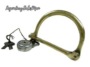 MILITARY LOCK BRASS WITH IRON PADLOCK WITH TWO KEY´S