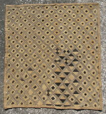 Vintage African raffia cloth Kuba People Shoowa Kasai velvet Congo 26x24.5in