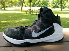 NIKE ZOOM WITHOUT A DOUBT SHOES/SNEAKERS MID BLACK/WHITE SIZE 11 MEN`S