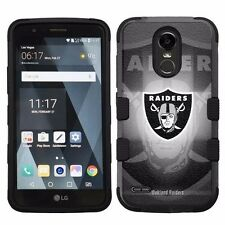 For LG Stylo 3 LS777 Hard Impact Armor Hybrid Case Oakland Raiders #B