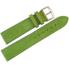 18mm Mens Fluco Green Suede Leather Made in Germany Watch Band Strap