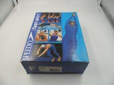 Speedo Womens NIB Blue Red Fastskin Lycra Full Body Olympic Style Swimsuit Sz 27