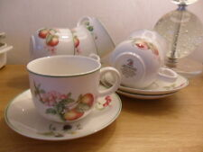 MARKS AND SPENCER ASHBERRY CUPS AND SAUCERS X 6