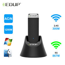 1200Mbps w/ USB3.0 Extension Cable Dual Band WiFi Adapter AC Wireless Network