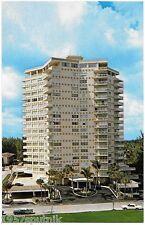 Maya Marco Apartments Fort Lauderdale Beach Condominium Postcard Mid Century b