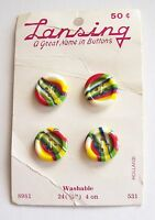 Lansing Holland Card Of Colorful Striped Buttons