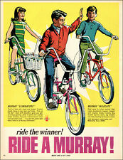 1968 vintage AD MURRAY BICYCLES Eliminators Wildcats Boys and Girls 061919