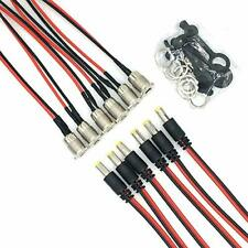 5.5 x 2.1 mm DC Power Jack Socket Threaded Female Panel Mount Connector Adapt...
