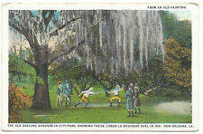 WB postcard, the old dueling grounds in city park,  New Orleans, LA
