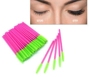 Silicone Eyelash Brushes Disposable Mascara Wand Lash Extension Applicator Tool